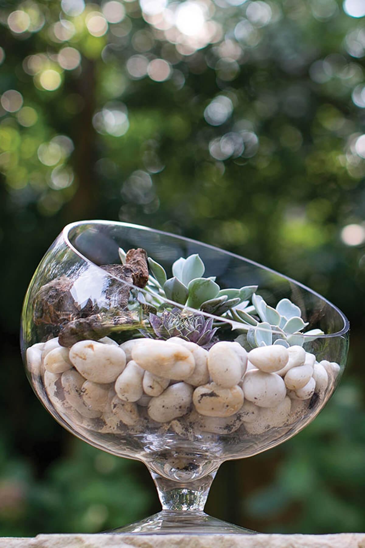 "Bias Bowl 12""x12"" Clear Glass"
