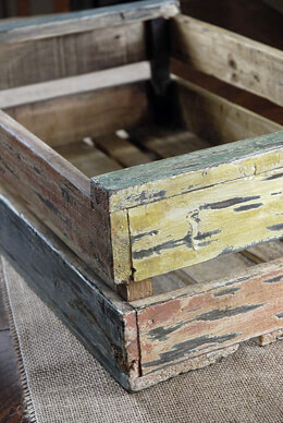 Recycled Teak Crates  14 in x 22 in