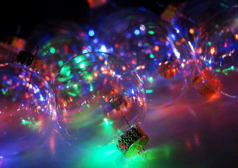 Clear Glass Ornaments Iridescent 60mm/2-3/8in (Box of 10)