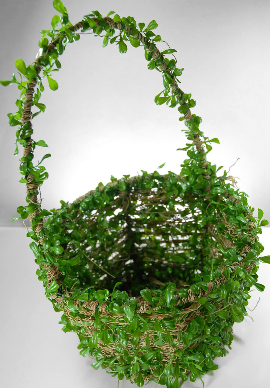 Boxwood Flower Girl Baskets Artificial