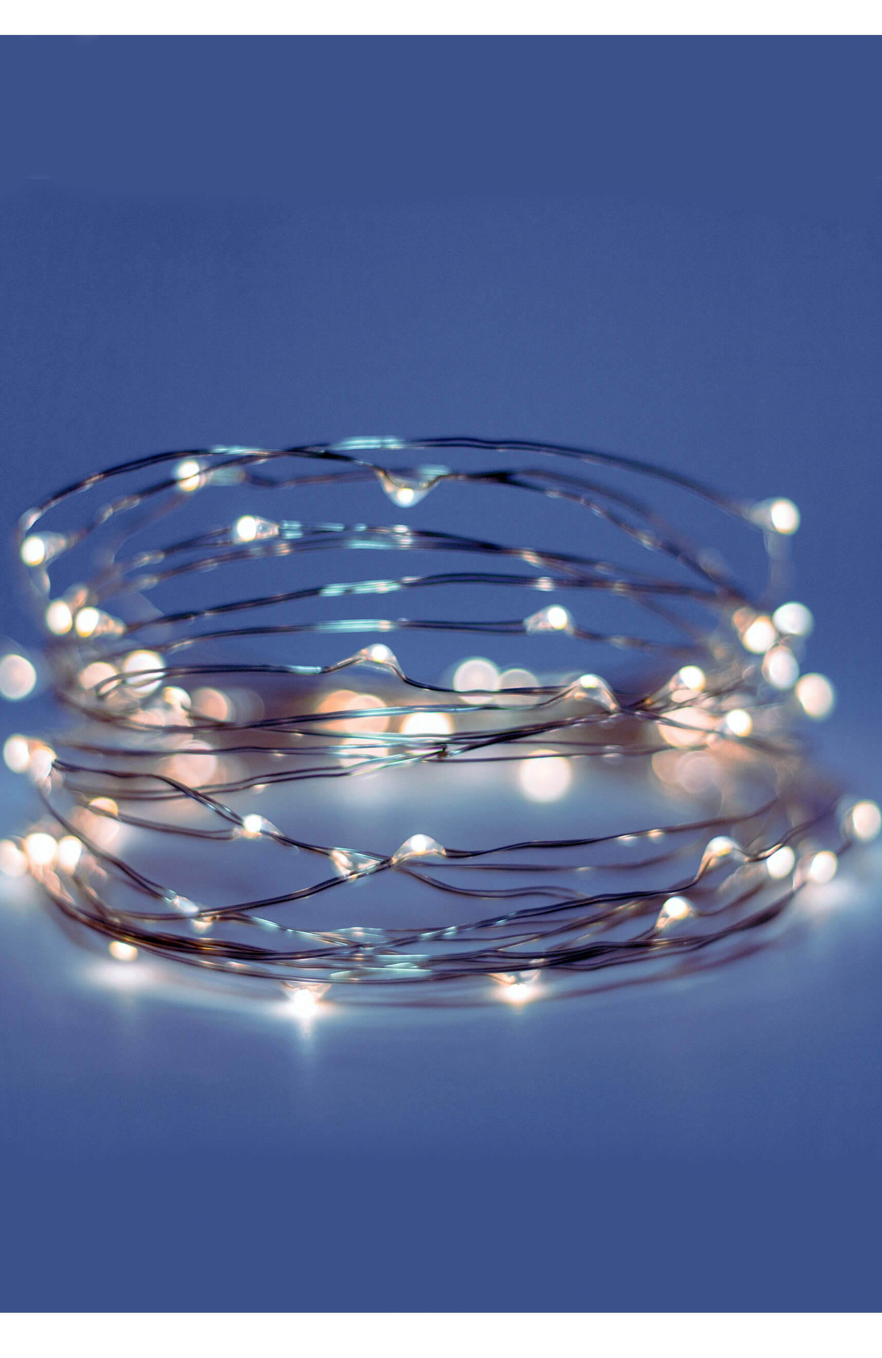 Fantasia Fairy Lights 91 Cool White LED 15 FT Battery Operated