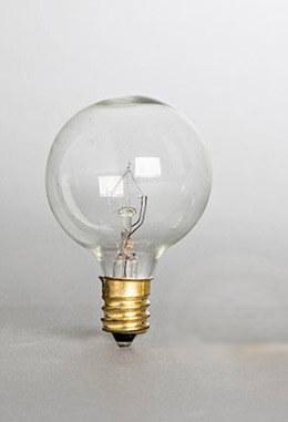 Globe Light Bulbs G50   2pk