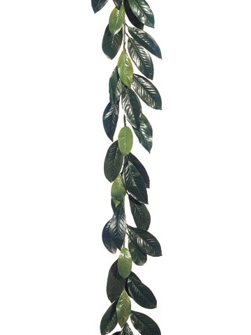 Magnolia Leaf Garland 6ft 44 Natural Touch Leaves