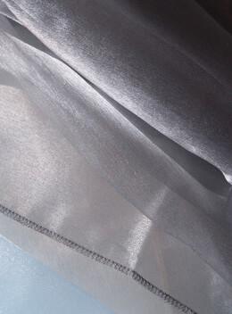 "Silver Organza Hemmed 54"" x 108"""