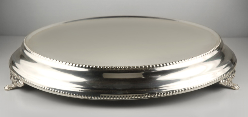"Stainless Steel Cake Stand, 15"", Cake Plateau"