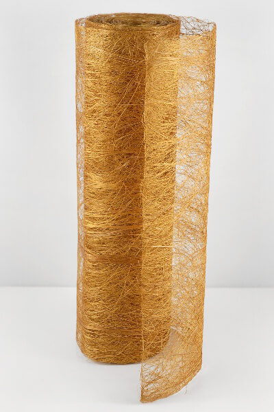 "Abaca Fiber Gold 19"" x 10 yards"