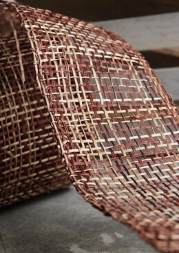 "Abaca Ribbon 4"" Woven Chocolate Brown 10 yards"