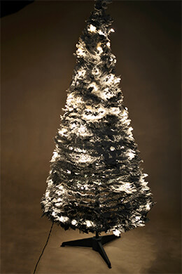Accordion Tree Frosted 5ft