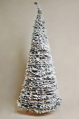 Accordion Tree Frosted 7ft