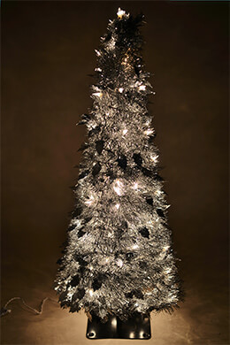 Accordion Tree Silver Metallic 5ft