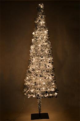 Accordion Tree Silver Metallic 9ft
