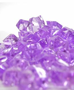 """Acrylic Crystals Lavender 1"""" -1.25"""" (14 oz./pkg)"""