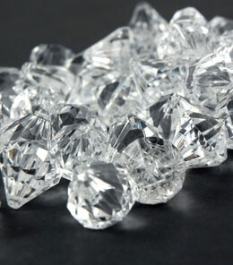 "Acrylic Diamonds Clear 1"" (2 Cups by Volume)"