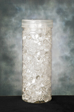 Acrylic Diamonds Clear 1/2in 190g