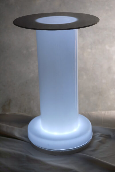 "Acrylic Risers 18"" Pedestals (you add the lights)"