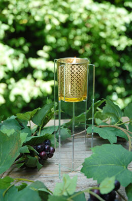 Acrylic Votive Candle Holder 8in