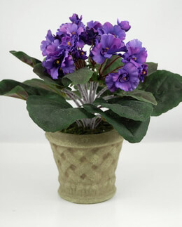 African Violet Plants Artificial Potted