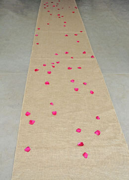 Aisle Runner Burlap Natural 100ft