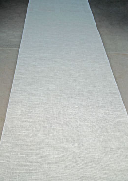 Aisle Runner Burlap White 100ft
