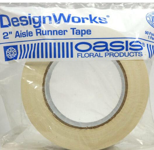 """Aisle Runner Tape White 2"""" x 90 Feet Design Works"""