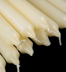 "Formal Ivory Taper Candles 10""  (10 candles)"