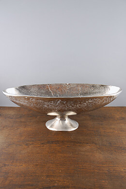 Large Silver Boat Bowl 17.5""
