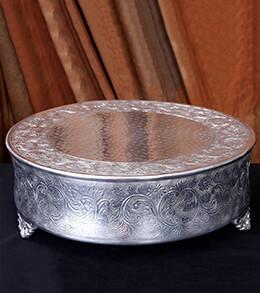 Aluminum Cake Stand 18in