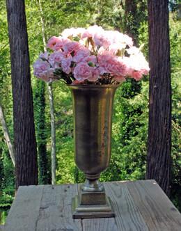 """Aluminum Trumpet Vase 6.25"""" x 14"""""""