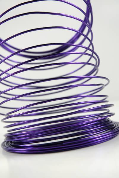 Aluminum Wire Purple 2.0mm x 40 feet