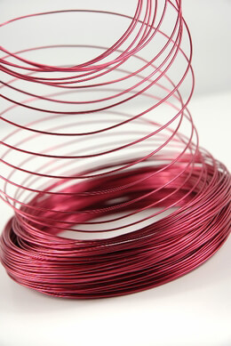 Aluminum Wire Red 1.0mm 158 feet