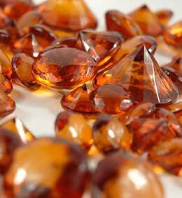 Amber Orange Vase Gems Acrylic Diamonds