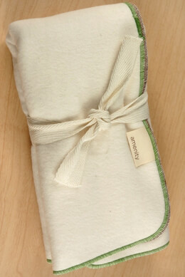 Amenity (2) Organic Baby Feeding Cloths Grass & Cocoa