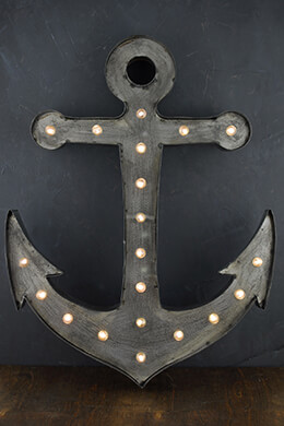 "Large 21"" Anchor Marquee Light, 20 LED Lights, Battery Operated"