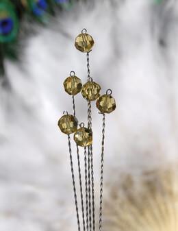Aphiria Light Topaz Crystal Stems 6 wires