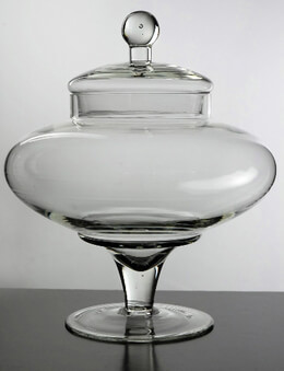 Apothecary Jar Clear Glass 13 x 11