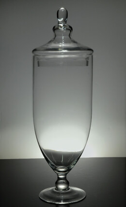"21"" Tall Glass Apothecary Jars"