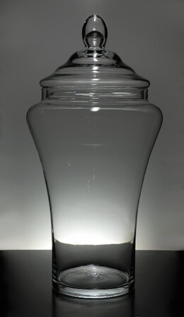 "22"" Clear Glass Apothecary Jar with Lid"
