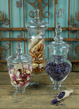 Apothecary Jars Glass (Set of 3)