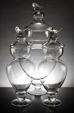 Bird Top Apothecary Jars (Set of 3)