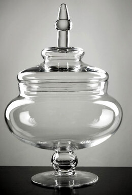 Apothecary Jars Large Glass 14""