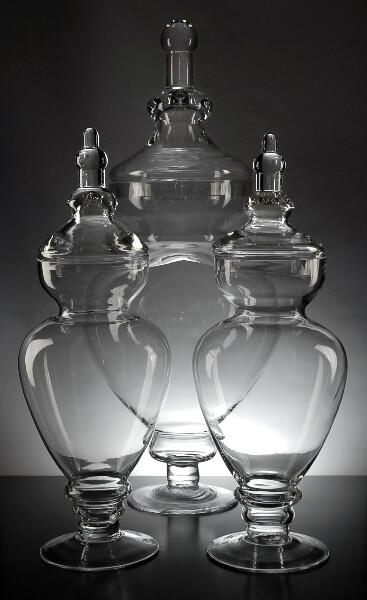 Glass Apothecary Jars (Set of 3)