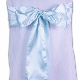 Satin Chair Sashes Aqua | Pack of 10