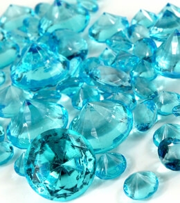 Aqua Blue Vase Gems Acrylic Diamonds