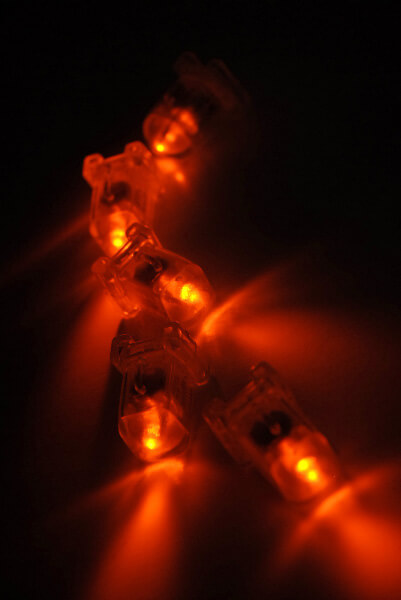 5 Orange AquaBrites LED Submersible Lights