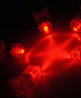 5 Red AquaBrites LED Submersible Lights