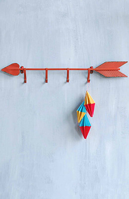 Arrow Wall Hook Red