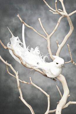 Wedding Birds White Linen (Set of 3)
