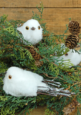 "Artificial Birds White Snow 2"" x 5"" (Set of 12)"