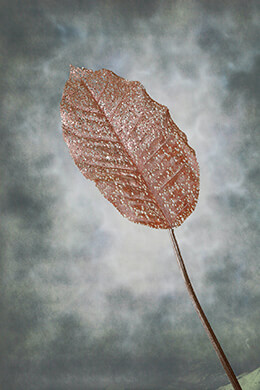 Artificial Leaf Metallic 30in