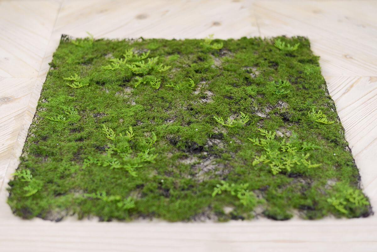 Artificial Moss Amp Fern Place Mat 20in